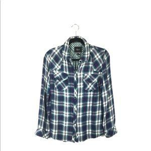 Rails West Plaid Button Down Shirt